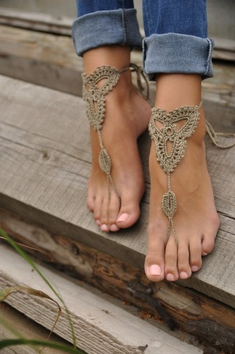 Women-Embroidery-Knit-Anklets-Foot-Jewelry-Crochets-Barefoot-Sandals-Beach-Wedding-Accessories